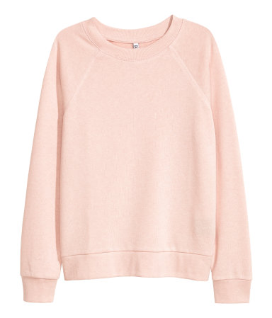 Sweatshirt | Powder pink | SALE | H&M US